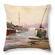 Gillingham Pier On The Medway Throw Pillow