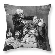 Gillray Cartoon: Quack Throw Pillow