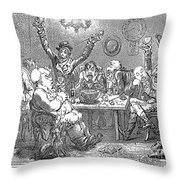 Gillray: Tavern, 1801 Throw Pillow
