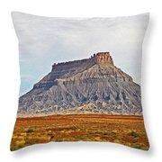 Gilson Peak Along The Colorado River Throw Pillow