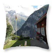 Gimmelwald Throw Pillow