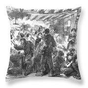 Gin Mill: London, 1861 Throw Pillow