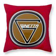 Ginetta Name Badge Throw Pillow