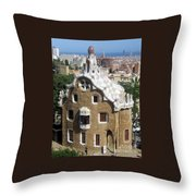 Ginger Bread House Throw Pillow