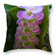 Ginger Flower Throw Pillow