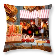 Gingerbread And Candies Throw Pillow