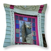 Burnt Gingerbread At The Pride House Jefferson Texas Throw Pillow