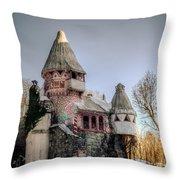 Gingerbread Castle Throw Pillow