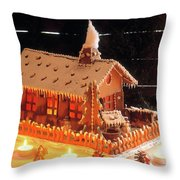 Gingerbread House, Traditional Throw Pillow