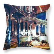 Gingerbread Houses Throw Pillow