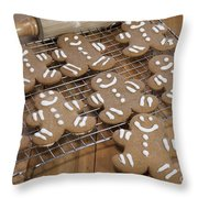 Gingerbread Man Cookies Throw Pillow