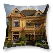 Gingerbread Mansion Throw Pillow
