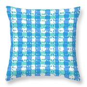 Gingham Glyphs Throw Pillow