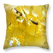 Ginko Tree Throw Pillow