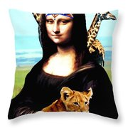 Gioconda Travelling - Africa Throw Pillow