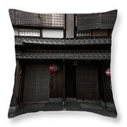 Gion Geisha District Of Kyoto Japan Throw Pillow