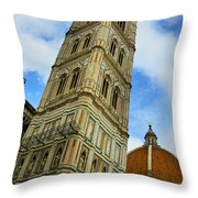 Giotto Campanile Tower In Florence Italy Throw Pillow