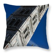 Giotto Fantastic Campanile - Florence Cathedral - Piazza Del Duomo - Italy Throw Pillow