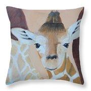 Giraffe Baby Throw Pillow