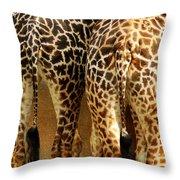 Giraffe Butts 1 Throw Pillow
