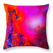 Giraffe In The Universe - Abstract Painting Throw Pillow