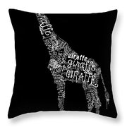Giraffe Is The Word Throw Pillow