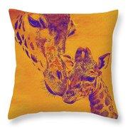 Giraffe Love Throw Pillow by Jane Schnetlage