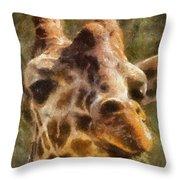 Giraffe Photo Art 01 Throw Pillow