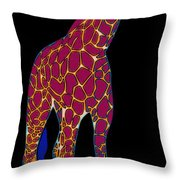 Giraffe Pop Art Throw Pillow
