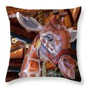 Giraffe Ride Throw Pillow
