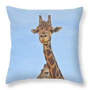 Behind Every Great Male Throw Pillow