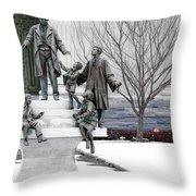 Girard And His Orphans Throw Pillow