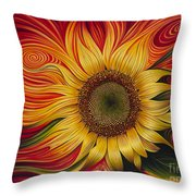 Girasol Dinamico Throw Pillow