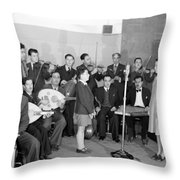 Girl And Boy Soloists Throw Pillow