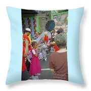 Girl At Carnival Social Occasion Celebrations Throw Pillow