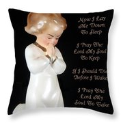Girl Childs Bedtime Prayer Throw Pillow