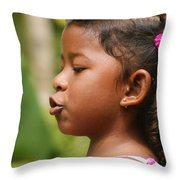 girl from Panama 3 Throw Pillow