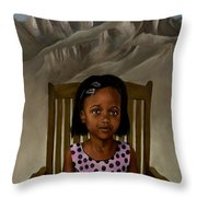 Girl From The Mountain Kingdom Throw Pillow