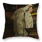 Girl In A Kimono Throw Pillow