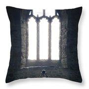 Girl In Chapel Throw Pillow by Joana Kruse