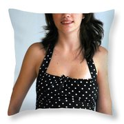 Girl On The Go Throw Pillow