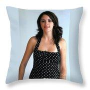 Girl On The Go Throw Pillow