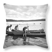Girl Scout Canoe Test Throw Pillow