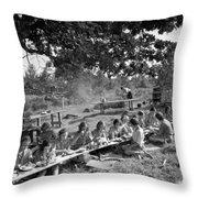 Girl Scout Picnic Throw Pillow