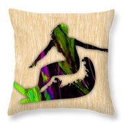 Girl Surfer Throw Pillow by Marvin Blaine