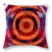 Girl Whirl Throw Pillow