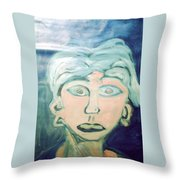 Girl With Ear Rings Throw Pillow