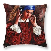 Girl With The Poor Hearing Throw Pillow