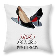 Girl's Best Friend Throw Pillow