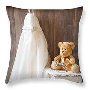 Girls Dress Throw Pillow